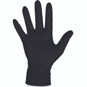 Boss 1UH0006BL Gloves Nitrile Disposable Black Large 100 Count