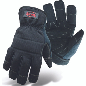 Boss 5207X Black Double Fleece Lined Utility Reinforced Gloves Extra-Large