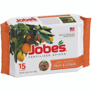 Easy Gardener 01612 Jobes Fruit And Citrus Tree Fertilizer Spike