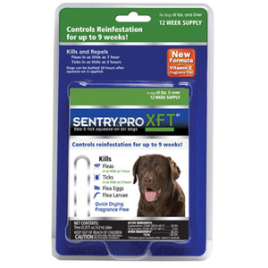Sergeants 02912 Sentry Pro XFT Flea And Tick Squeeze On For Dogs Over 60 Pounds Pack Of 3