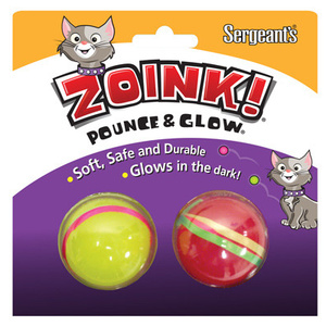 Sergeants 07664 Zoink Pounce And Glow Ball For Cats 2 Balls