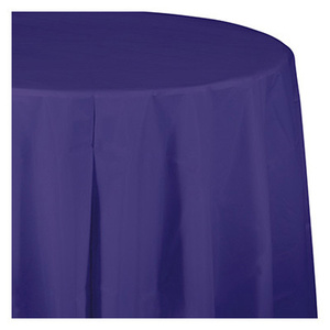 Creative Converting 703268 82 Inch Purp RND Table Cover
