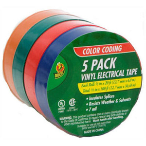 Shurtech 07205 Vinyl Electrical Tape Assorted 1/2 Inch By 20 Foot