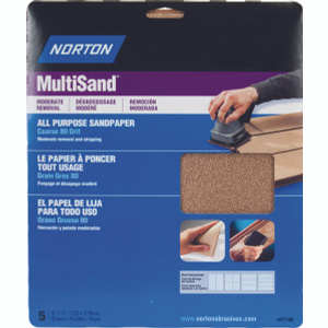 Norton 47740 Multisand Aluminum Oxide Sandpaper High Performance