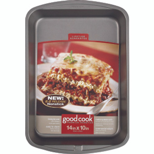 Bradshaw 04011 Good Cook Lasagna Pan Nonstick 14 By 10 Inches