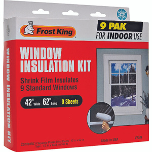 Thermwell V73/9 Frost King 42 Inch By 62 Inch Window Insulation Kit 9 Pack