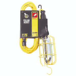 Coleman Cable 2893 Yellow Jacket 16/3 By 25 Foot Contractor Grade Work Light