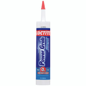 Loctite 2022554 Power Grab Clear All Purpose Construction Adhesive 9 Ounce Cartridge