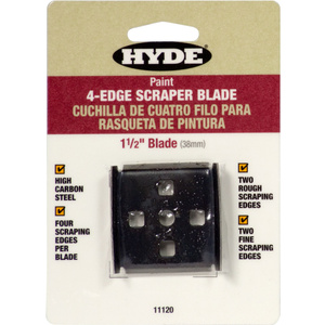 Hyde 11120 Paint Scraper 4 Edge Replacement Blade 1-1/2 Inch