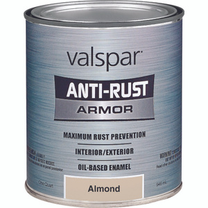 Valspar 21835 Anti Rust Paint Antirust Oil Based Gloss Almond Gallon