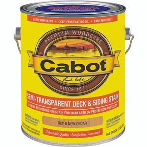 Cabot Valspar 16316 VOC Cab Oil Semi-Transparent New Cedar Gallon