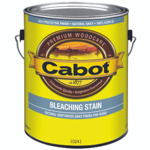 Valspar 10241 Cabot Bleaching Stain Water Base Gallon Natural Driftwood Gray Finish
