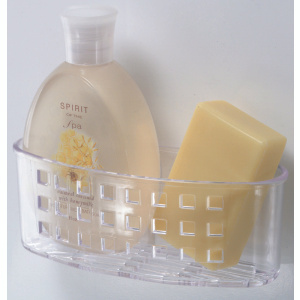 InterDesign 23600 Bath Caddy Plastic Clear With Suction Cups