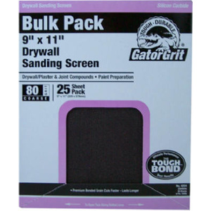 Ali 4249 Gator 9 By 11 Inch Drywall Sanding Screen 220 Grit Silicone Carbide 25 Sheets