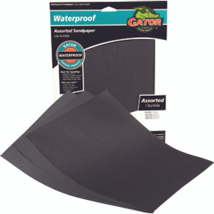 Ali 4475 Gator 9 By 11 Inch Waterproof Sandpaper Assorted Grits Silicon Carbide 4 Sheets
