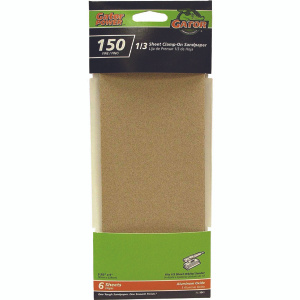 Ali 5041 Gator 3-2/3 By 9 Inch Multi Surface Sandpaper 150 Grit Aluminum Oxide 6 Sheets