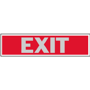 Hy Ko 411 2 Inch By 8 Inch Aluminum Self Adhesive Red Exit Sign