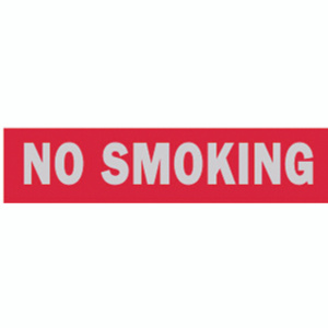 Hy Ko 426 2 Inch By 8 Inch Aluminum Self Adhesive Red No Smoking Sign