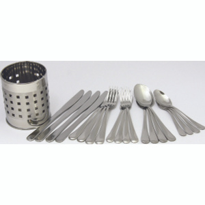 Chef Craft 21710 Flatware With Holder 20 Piece Set