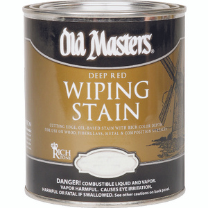 Old Masters 14916 Stain Wiping Crimson Fire 1/2 Pint