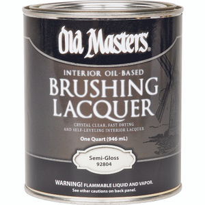 Old Masters 92804 Semi Gloss Lacquer Brushing Oil Quart