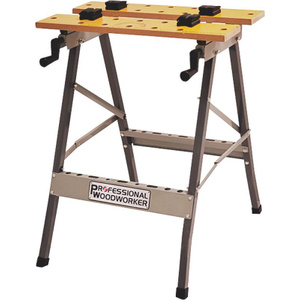 NATI 51834 Professional Woodworker Portable Folding Clamping Work Bench Table With Veneered Birch Top