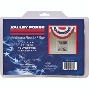 Valley Forge Flag PFF-ST 3 Foot By 6 Foot Large Pleated Full Fan Flag