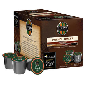 Keurig 00622 Tully's 18 Count French Roast Extra Bold K Cup