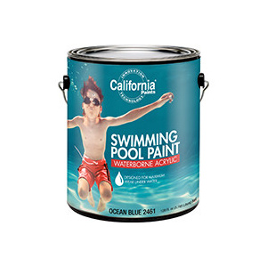 California Products 2461-1 Ocean Blue Swimming Pool Paint Gallon Water Based Acrylic