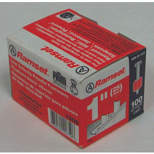 Ramset 00759 100 Pack.300 By 1 Drive Knurled Pin