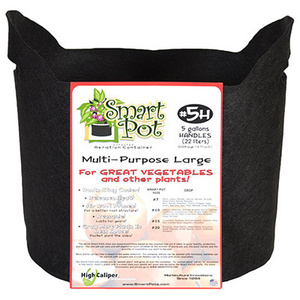 High Caliper Growing 21005RT 5GAL BLK Smart Pot