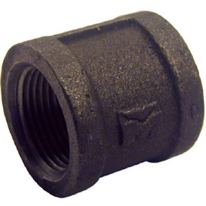 PanNext Fittings B-CPL03 3/8 Inch Black Pipe Coupling