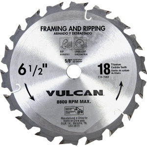 Vulcan 409061OR 6-1/2 Inch By 18 Tooth Carbide Blade Smooth Cut
