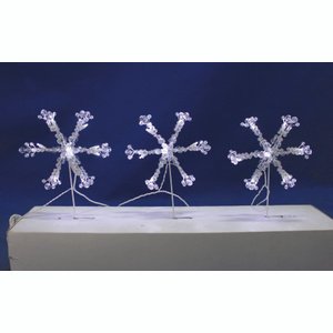 Holiday Basix W12L0230 Path Light Snowflake 9.5In Led