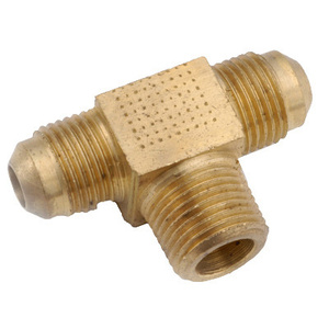 Anderson Metal 54045-0608 3/8 By 1/2 Inch Male Pipe Thread Brass Flare Branch Tee