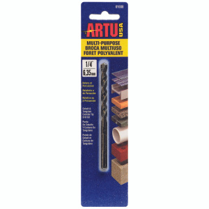 Artu 01030 1/4 Inch By 4-1/4 Inch Colbalt & Carbide Multi Purpose Bit