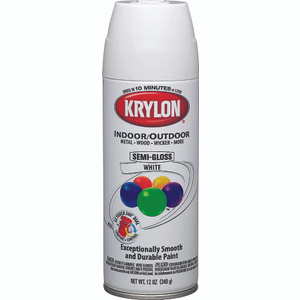 Krylon 51508 Colormaster White Semi Gloss Spray Paint