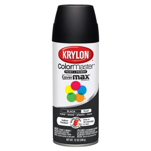 Krylon 51602 Colormaster Black Flat Spray Paint
