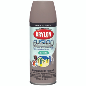 Krylon 2438 Fusion Khaki Satin Spray Paint For Plastic
