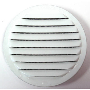 Maurice Franklin RLW-100 4 4 Inch Round White Aluminum Screen Louver Pack Of 4