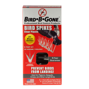 Bird B Gone MM2000-5/6 5 Inch By 6 Foot Clear Plastic Bird Spike