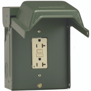 GE Electrical U010010GRP 1 Ground Fault Interrupter Receptacle Backyard Power Outlet 20 Amp