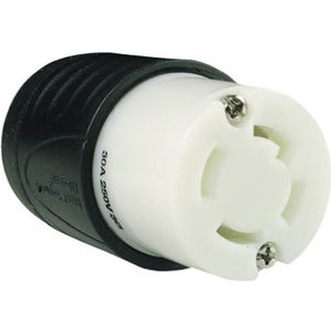 Pass & Seymour L1530CCC 30 Amp Black And White Connector