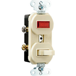 Pass & Seymour 692IGCC6 15 Amp 120/125 Volt Ivory Single Pole Switch