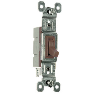 Pass & Seymour 660GUCC18 15 Amp 120 Volt Brown Grounding Standard Single Pole Toggle Switch