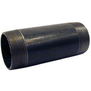 PanNext Fittings NB-05120 1/2 By 12 Inch Black Pipe Nipple