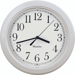 Westclox 46994 8-1/2 Inch Simplicity Round Wall Clock White