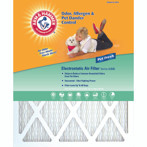 Arm & Hammer AFAH2025 Enhanced Allergen And Odor Electrostatic Air Filter 20 Inch By 25 Inch By 1 Inch