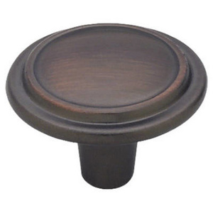 Brainerd P40052L-VBR-U 1-1/4 Inch Top Ring Round Cabinet Knob Venetian Bronze Pack Of 2
