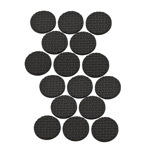 Stanley National S845-001 Stanley 1 Inch Self Adhesive Black Rubber Grips Card Of 16